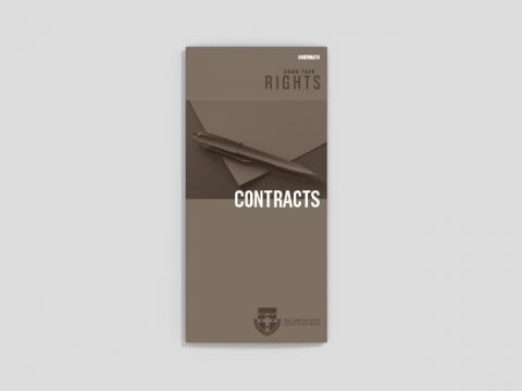 Know your rights - Contracts (25 per pack)