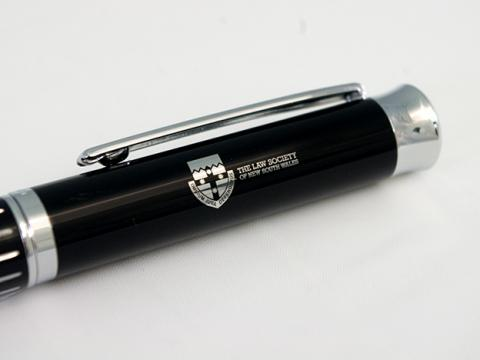 Premium Black Striped Pen